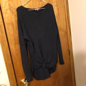 Joan Vass Dark Blue Light Weight Sweater